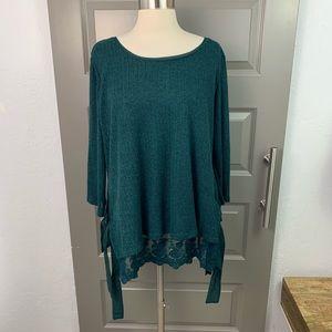 Lauren Conrad Evergreen Layered Sweater
